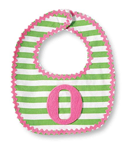 Mud Pie Baby-Girls Newborn O Girl Initial Bib, Pink, One Size