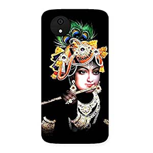 Ajay Enterprises Designer Flute Krishna Back Case Cover for Micromax Canvas A1
