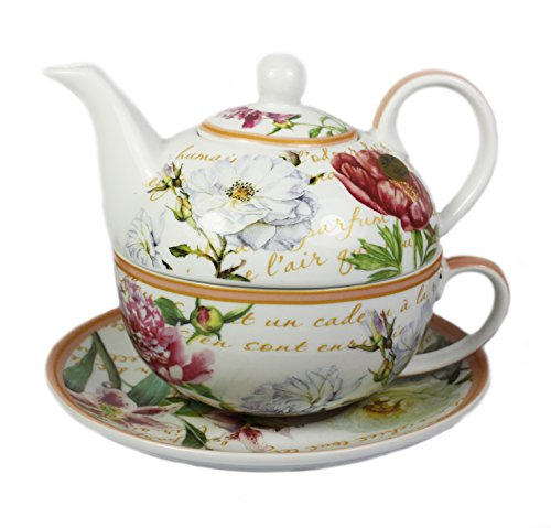 Jardin de Fleurs en porcelaine Tea for One Set