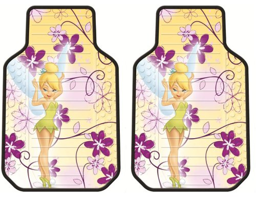 Tinker Bell Dream Land Fairy w/ Flowers Disney Front Car Truck SUV Floor Mats - Pair (Tinkerbell Car Floor Mats compare prices)
