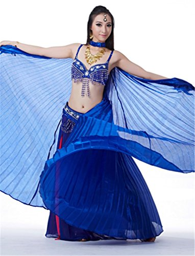 Dreamspell 2014 Simulated Silk belly dance royal blue wings best gift