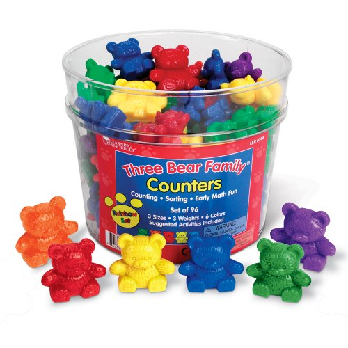 Learning Resources Three Bear Family Counter Set - Rainbow Set of 96 (Bear Family Counters compare prices)
