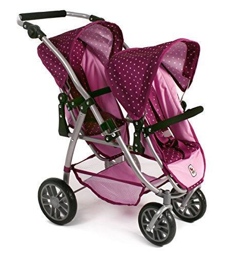 bayer-chic-2000-689-29-tandem-de-buggy-vario-dots-color-morado-lila-rosa