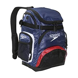 Speedo Performance Small Pro Backpack, Navy/Red/White