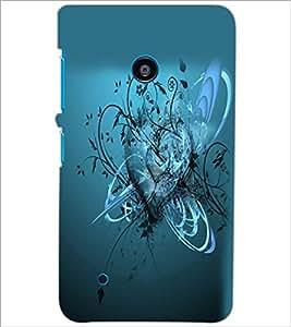 PrintDhaba Heart D-2166 Back Case Cover for NOKIA LUMIA 530 (Multi-Coloured)