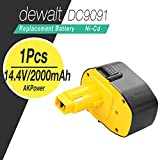 AkPower® 14.4v,2.0Ah Professional Dewalt Power Tool Cordless Battery For Dewalt DC9091 DE9038 DE9091 DE9092 DE9094 DE9502