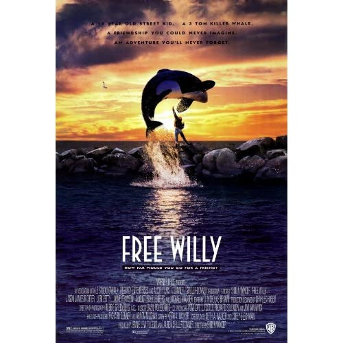 Free Willy Movie Poster (27 x 40 Inches - 69cm x 102cm) (1992) -(Jason