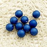 モダンビーズ トライアルマットパール(9mm,10個) bellybelly (ブルー)