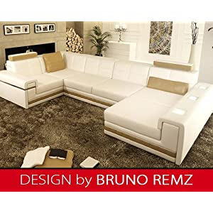 g nstig kaufen bruno remz amberg sm leder sofa ledersofa ecksofa wohnlandschaft ledercouch. Black Bedroom Furniture Sets. Home Design Ideas