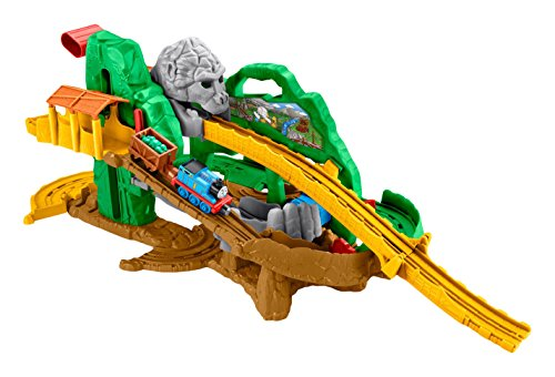 Fisher Price DGK89 - Trenino Thomas Take'n Play la Pista della Giungla di Thomas, Multicolore