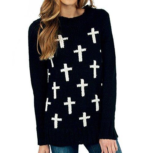 cravog-warm-pullovers-crew-neck-block-brief-ribbed-jacquard-sweater-l-black