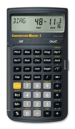 Construction Master 5 - Calculated Industries, Inc - RC-CI4050 - ISBN: B0008GO6A6 - ISBN-13: 0098584040505