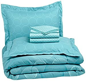 Pinzon 7-Piece Bed In A Bag - Full/Queen, Industrial Vintage Teal