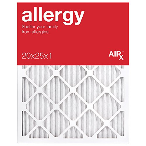 AiRx ALLERGY 20x25x1 Air Filters - Best for Allergy Protection - Box of 6 - Pleated 20x25x1 MERV 11 Air Filters, AC Filters, Furnace Filter - Energy Efficient