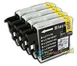 4 Compatible LC985 (LC39) Ink Cartridges for Brother DCP-J515W Printer