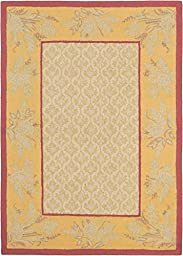 eCarpetGallery Handmade Infinity 5-Feet 5-Inch by 7-Feet 7-Inch Wool Rug, Ivory, Light Gold