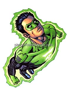 1/4 Sheet ~ Green Lantern Flying Birthday ~ Edible Image Cake/Cupcake Topper!!!