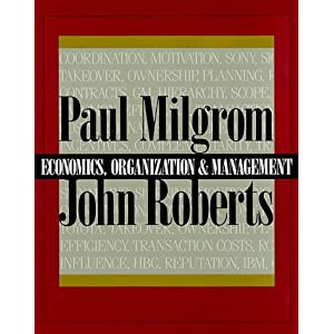 Textbook by Milgrom and Roberts