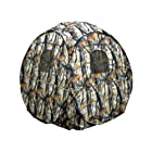 KillZone Hunting Pop-Up Ground Blind Turkey Deer Hunting Blind with Open Woods Camo