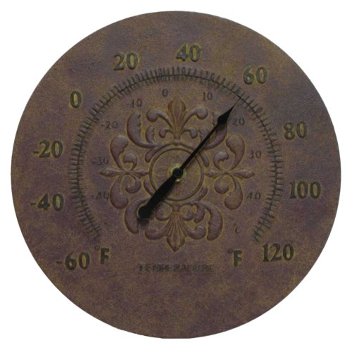 Infinity Instruments Medallion Thermometer-Rust Finish