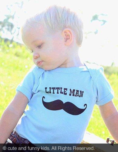 Mustache Little Man Baby Onesie One-Piece Bodysuit
