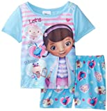 Komar Kids Girls 2-6X Toddler Doc Mcstuffins 2Pc Pajama Short Set