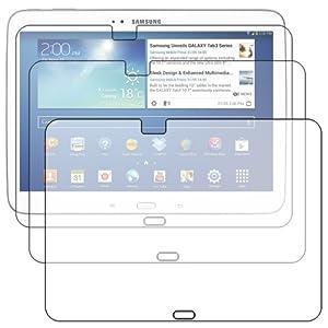 Lot x3 FILM Protecteur Anti-rayure ebestStar - pour Tablette Samsung Galaxy TAB 3 10.1 P5200 / P5210 / P5220 / GT-P5210ZWAXEF - pack x 3 protection d'écran tactile, LCD, cristal, transparent + chiffonnette (microfibre / chiffon)