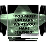 Inspirational Quote Galaxy Star Design Print Image Playstation 3 & Ps3 Slim Vinyl Decal Sticker Skin By Trendy...