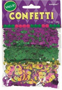 Amscam Mardi Gras Value Confetti, 1.2 oz, Multicolor