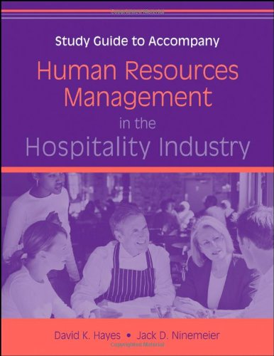 Human Resources Management in the Hospitality Industry,...