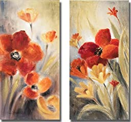 Secret Garden I & II by Lanie Loreth 2-pc Premium Oversize Gallery Wrapped Canvas Giclee Art Set (Ready to Hang)