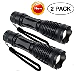 Tactical Flashlights 2000 Lumens,Best Portable Tac Light,Ultra Bright LED Handheld Flashlight,Zoom Function Waterproof Torch and 5 Light Modesfor Camp