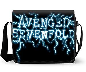 Women Messenger Bags Fashion Shoulder Bags Cross Body Bag Avenged Sevenfold Print 12.2*9.4 Inch.