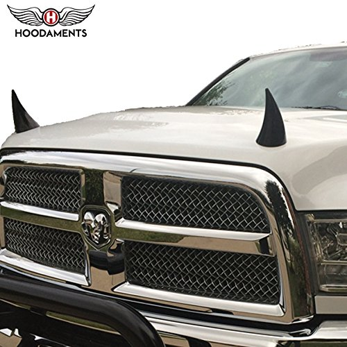 Bull Horns for Cars- BLACK (Black Car Hood compare prices)