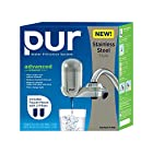 PUR Advanced Faucet Water Filter - Stainless Steel Style BONUS pack