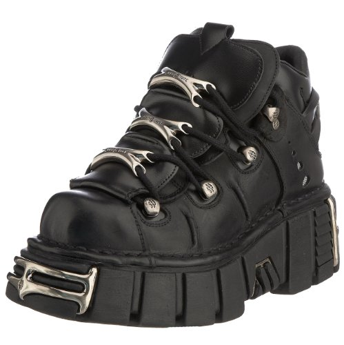 New Rock 106-S1, Scarpe casual, donna, Nero, 39.5 EU