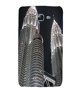 printtech Malaysia Twin Towers Back Case Cover for Samsung Galaxy Quattro i8552 / Samsung Galaxy Quattro Win i8552