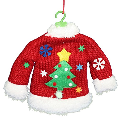 Kurt Adler Real Knit Ugly Sweater ornament (Christmas Tree)
