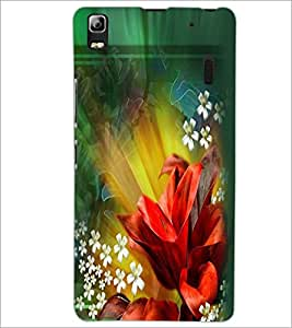 PrintDhaba Flowers D-2290 Back Case Cover for LENOVO A7000 TURBO (Multi-Coloured)