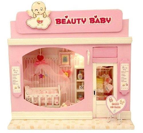 dollhouse miniature kit light beauty baby love store shop lovely kids child for christmas gift