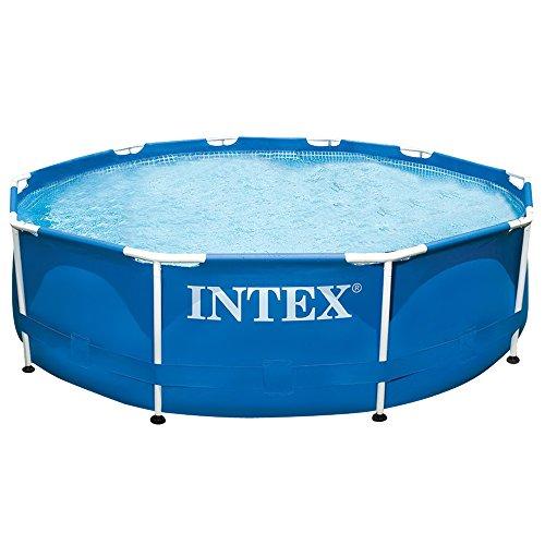 Intex aufstellpool frame pool set rondo blau 305 x 76cm for Aufstellpool rund stahlwand