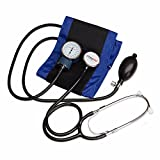 Paramed Comfort Aneroid Sphygmomanometer - Professional Blood Pressure Monitor with Stethoscope and Adult Sized Cuff Included - Dark Blue