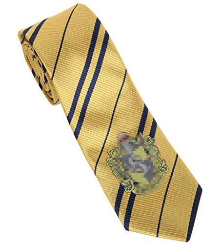 Topcosplay Unisex Adults Novelty Cosplay Halloween Costume Neckties Tie for Harry Potter (Hufflepuff)