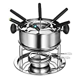 Kitchen - Cheese/Chocolate Fondue set by Dom&Lyn,Stainless Steel Silver