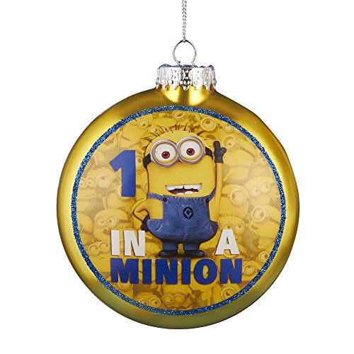 Kurt Adler 1 in a Minion Ornament with Decal, 80mm - 1