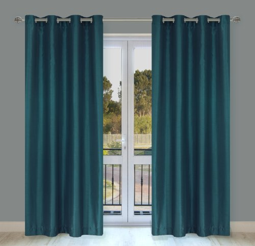 Silkana Faux-Silk Window Panel Set In Blue By-You (Set Of 2)
