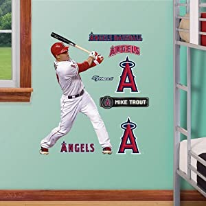 MLB Los Angeles Angels Mike Trout Junior Wall Graphics by Fathead