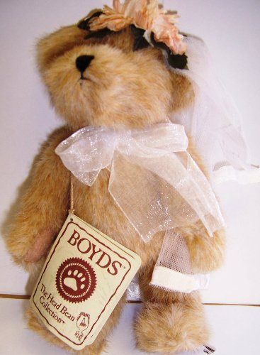 Boyds Bears Head Bean Collection Mary Bride Think of You Series Item 903114 - 1