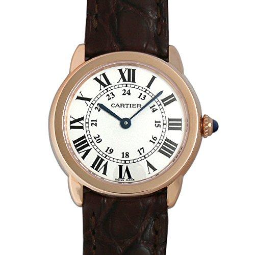 Cartier Women's Ronde Solo De Cartier 29.5mm Leather Band Rose Gold Plated Case Quartz Watch W6701007
