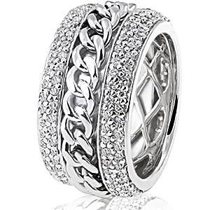 Goldmaid Damen-Ring Glamour 925 Sterlingsilber 160 Zirkonia Gr. 52 (16.6) Pa R4657S52